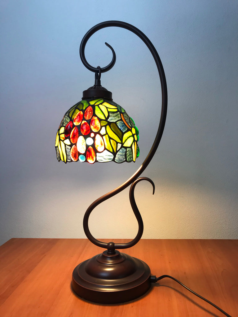 Grape Style Tiffany Accent Table Lamp