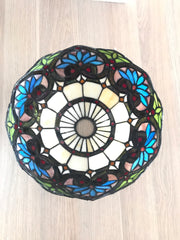 Boheme Style Stained Glass Bridge Arm Tiffany Floor Lamp