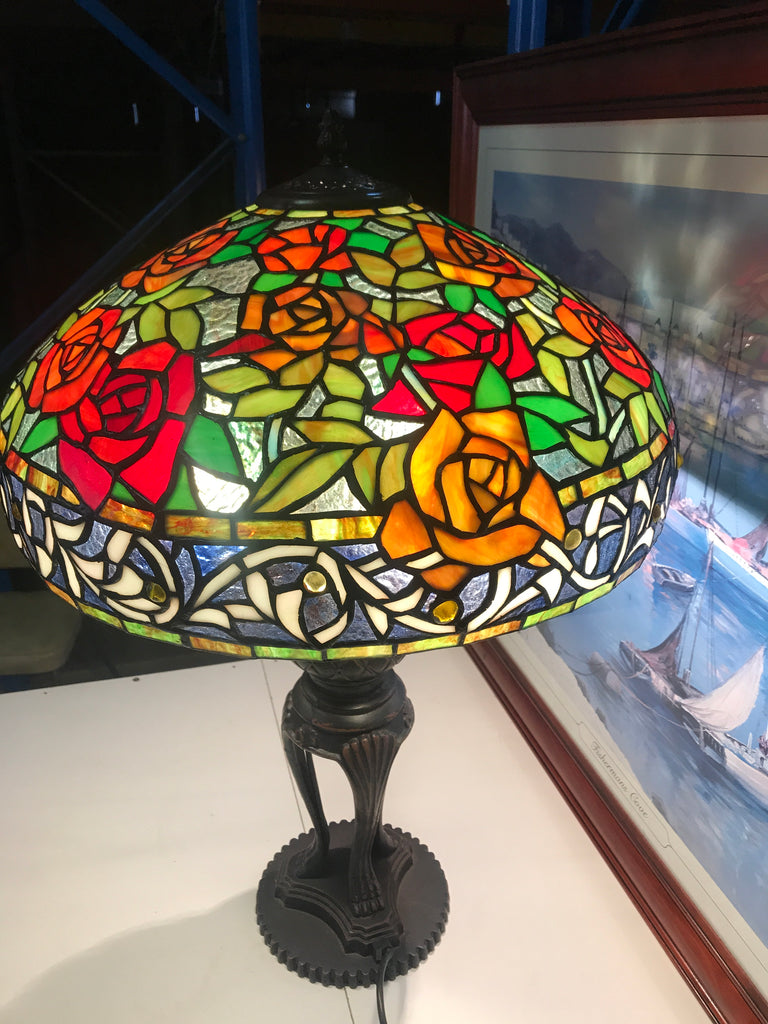 "18"" inches Blooming Rose Style Tiffany Table Lamp @ Limited Stock only"