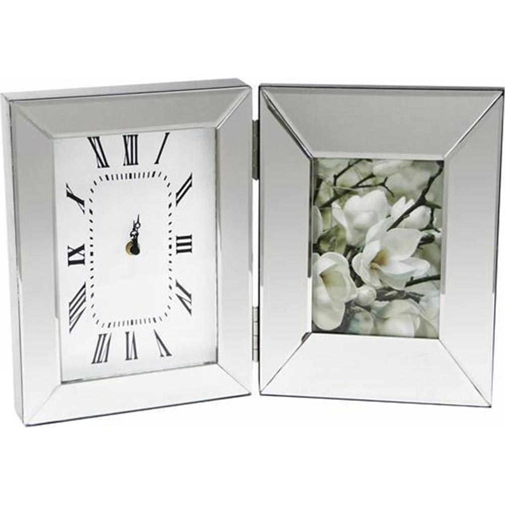 Mirrored Clock Photo Frame – Melior Rooms