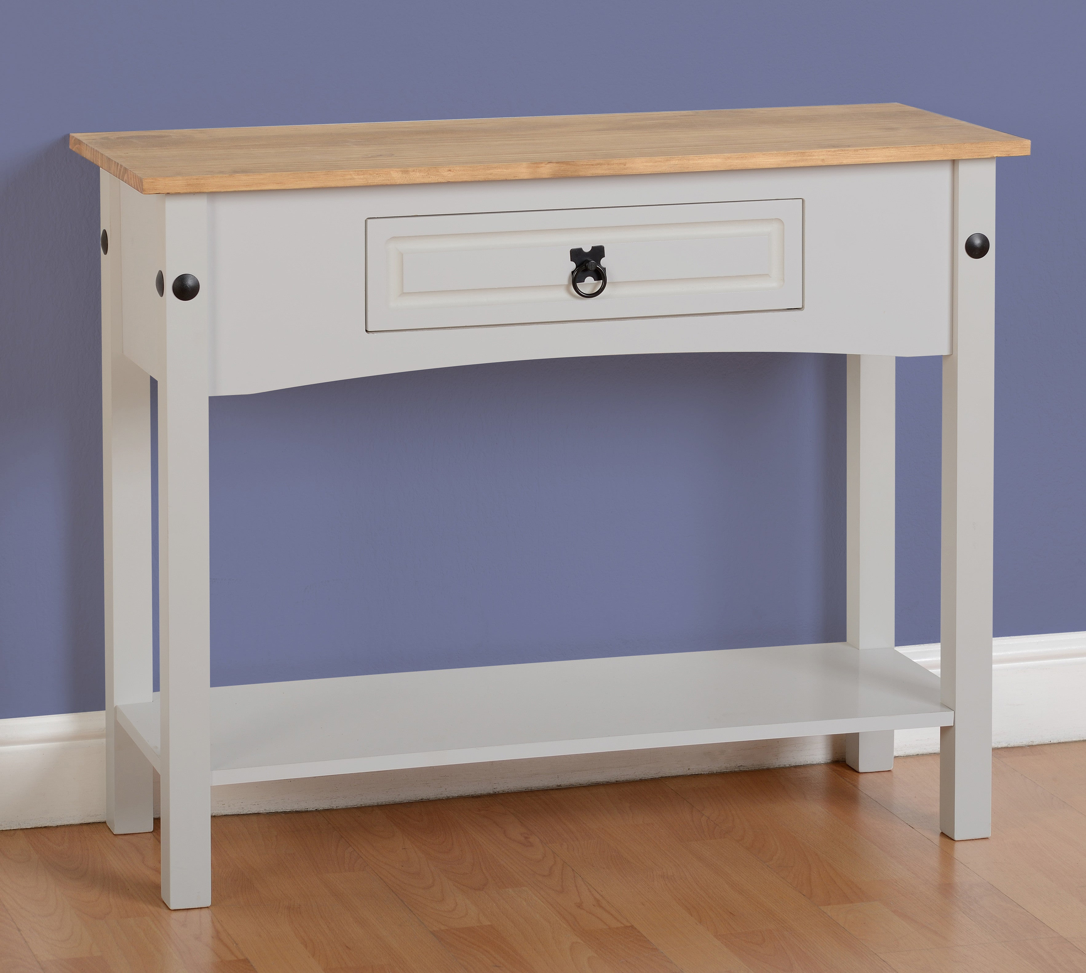 Corona 1 Drawer Grey Console Table