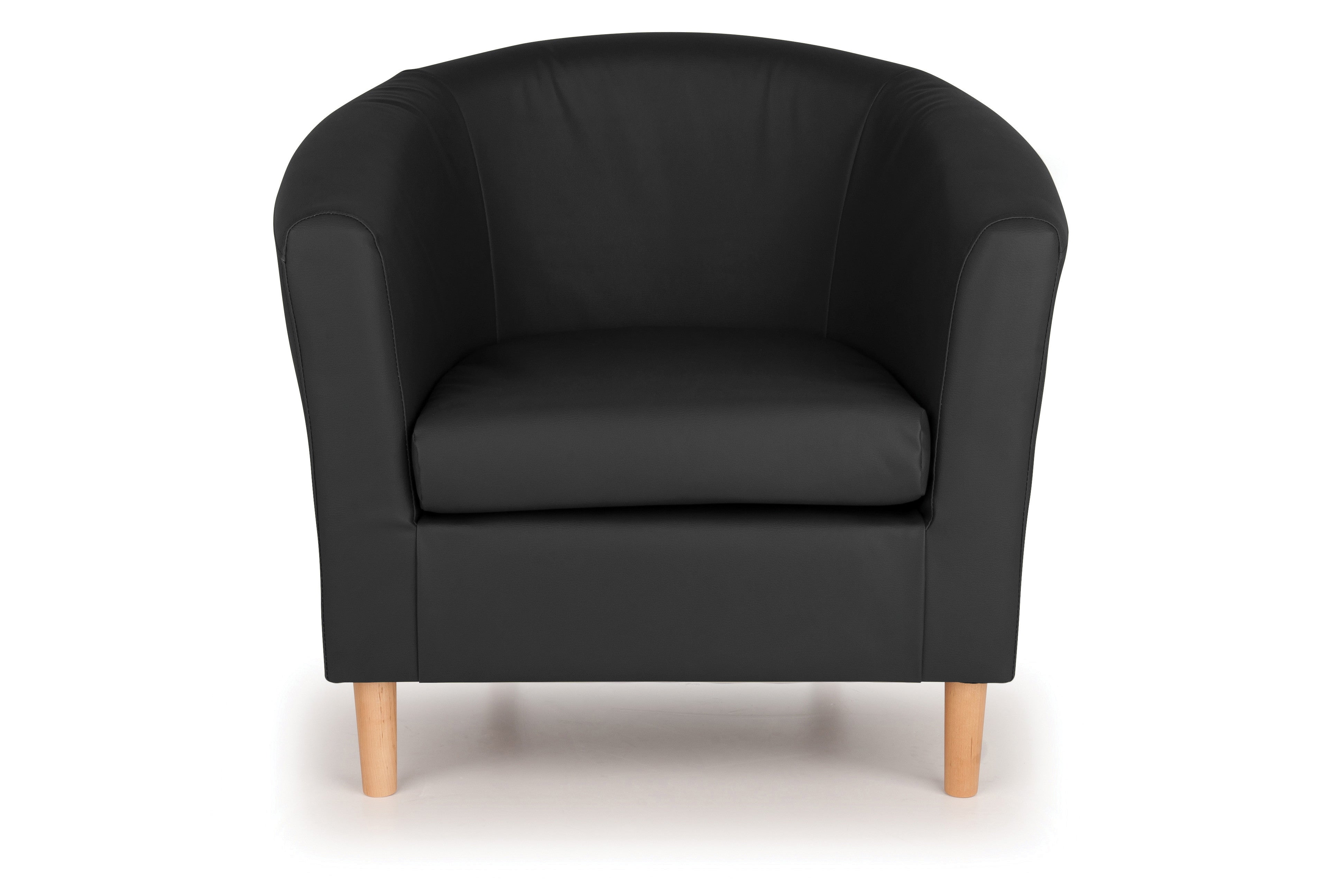 Nicole Faux Leather Tub Chairs