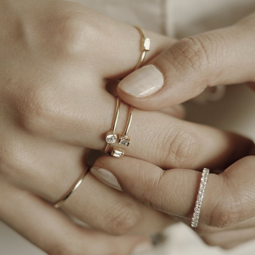Twin Baguette Diamond Ring