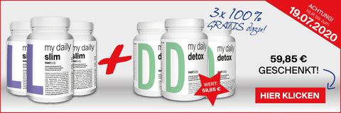 my daily slim & detox Aktion 3+3 Juli 2020