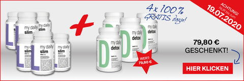 my daily slim & detox Aktion 6+4 Juli 2020