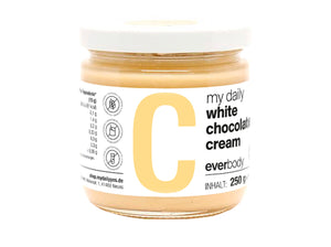 my daily white chocolate cream
