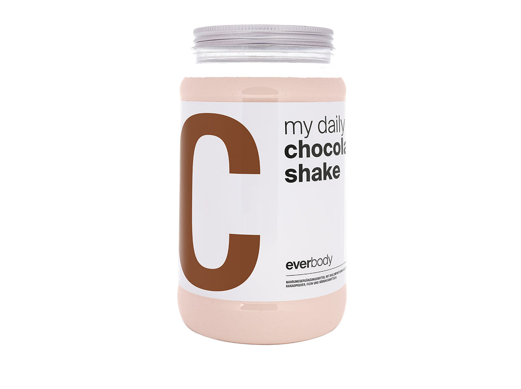 my daily chocolate shake + Gratis Shaker!