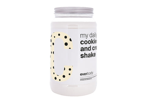 my daily cookies and cream shake + Gratis Shaker!