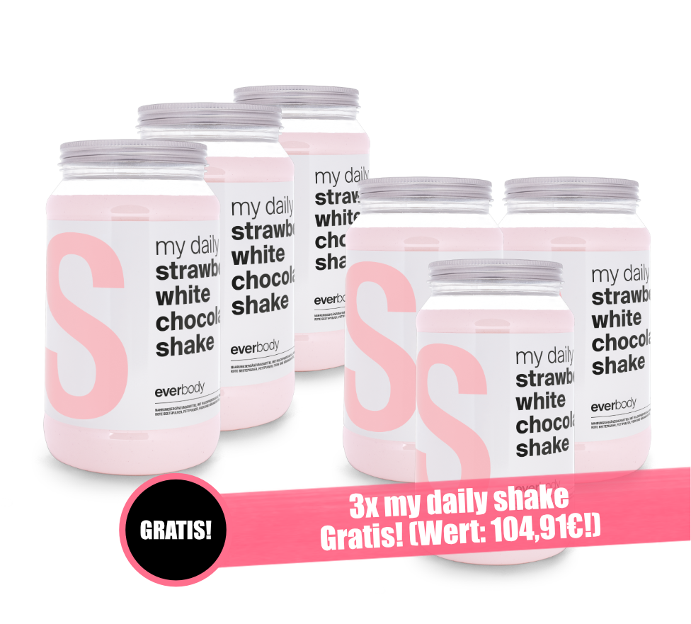 Aktionsangebot: my daily Shake Geschmack: Strawberry white Chocolate