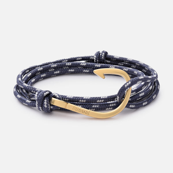 Hook On Rope Bracelet Dusk Matte Gold Plated