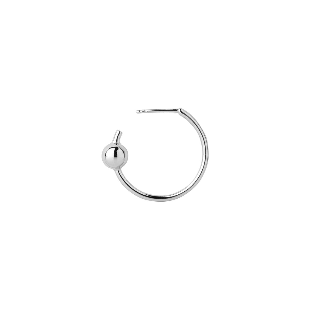 Maria Black-Orion Medi Hoop Earring Silver HP-Jewellery-100365-THE UNIT STORE