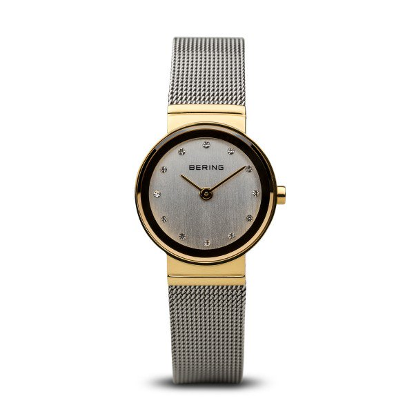 Bering-Classic White Dial Swarovski GD Bezel SIL Mesh-Watch-10126-001-THE UNIT STORE