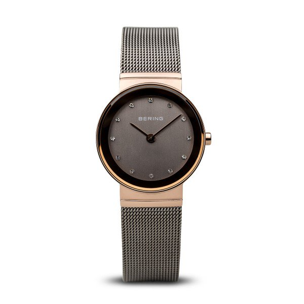 Bering-Classic Rd Grey Dial Bezel Grey Mesh Blk Case-Watch-10126-369-THE UNIT STORE