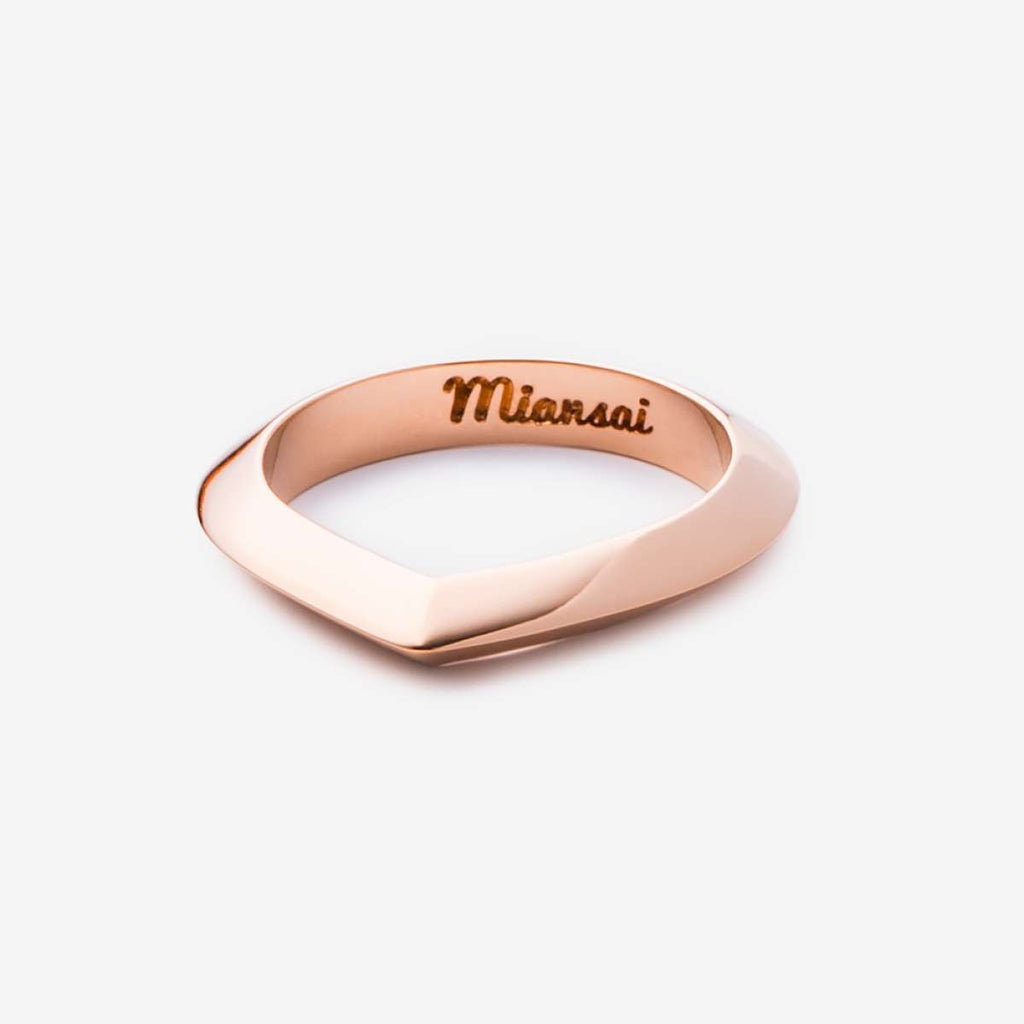 Miansai Angular Ring Rose Plated 104-0048 5