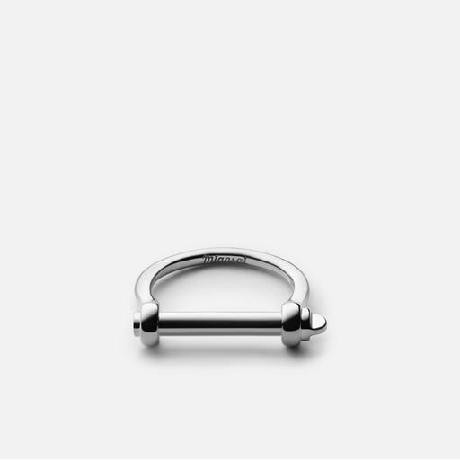 Thin Screw Cuff Ring Sterling Silver