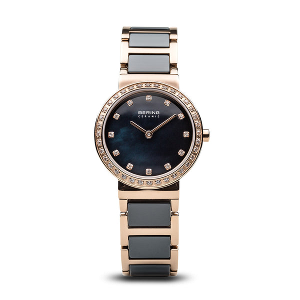 Bering-Ceramic/Blue/Rose Gold/Rose Gold Metal/29mm-Watch-10729-767-THE UNIT STORE
