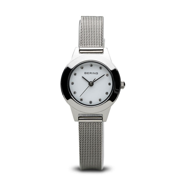 Bering-Classic Silver Dial w Swarovski Silver Case Mesh-Watch-11125-000-THE UNIT STORE