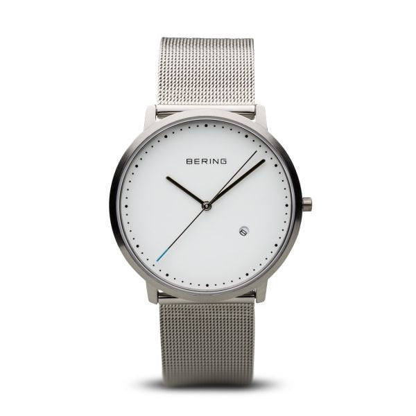 Bering-Classic White Dial SIL Case Brushed SIL Milanese-Watch-11139-004-THE UNIT STORE