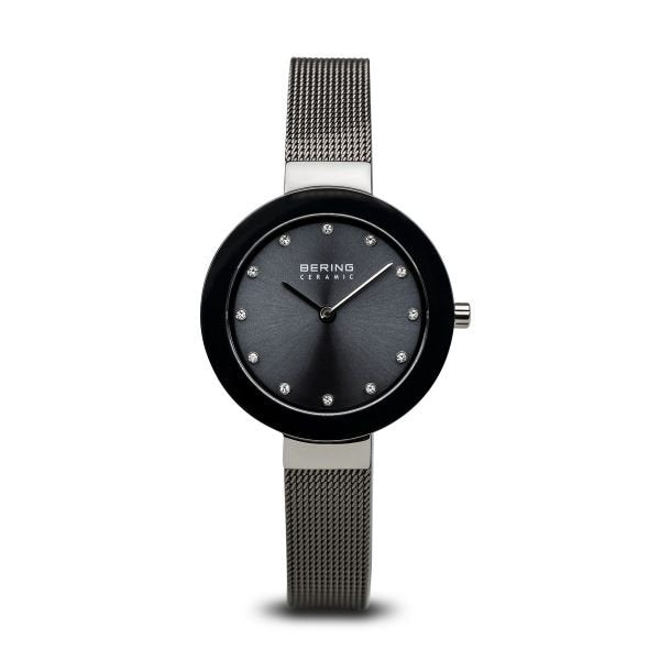 Bering-Ceramic Grey Mesh-Watch-11429-389-THE UNIT STORE