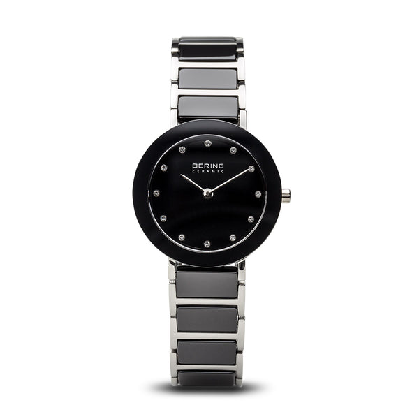 Bering-Ceramic/Black/Black/Silver Metal/29mm-Watch-11429-742-THE UNIT STORE