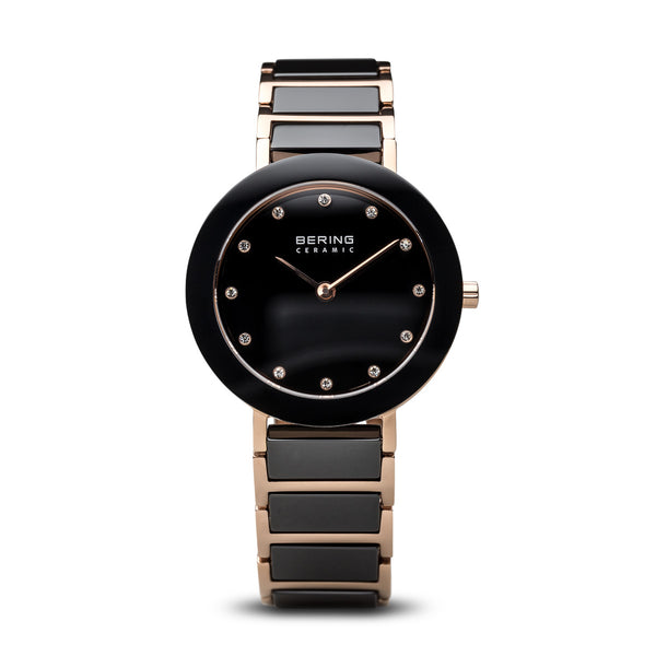 Bering Ceramic/Black/Rose Gold/Rose Gold/29mm 11429-746
