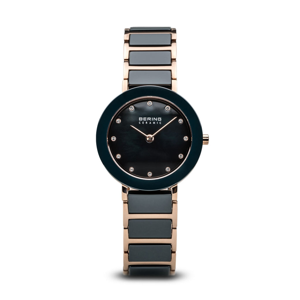 Bering Ceramic Blue/Rose Gold/Rose Gold/29mm 11429-767