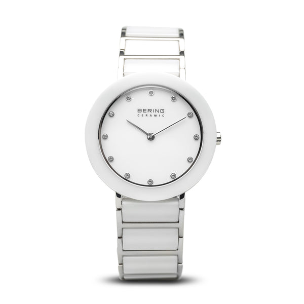 Bering Ceramic/White/Silver/Silver/35mm 11435-754