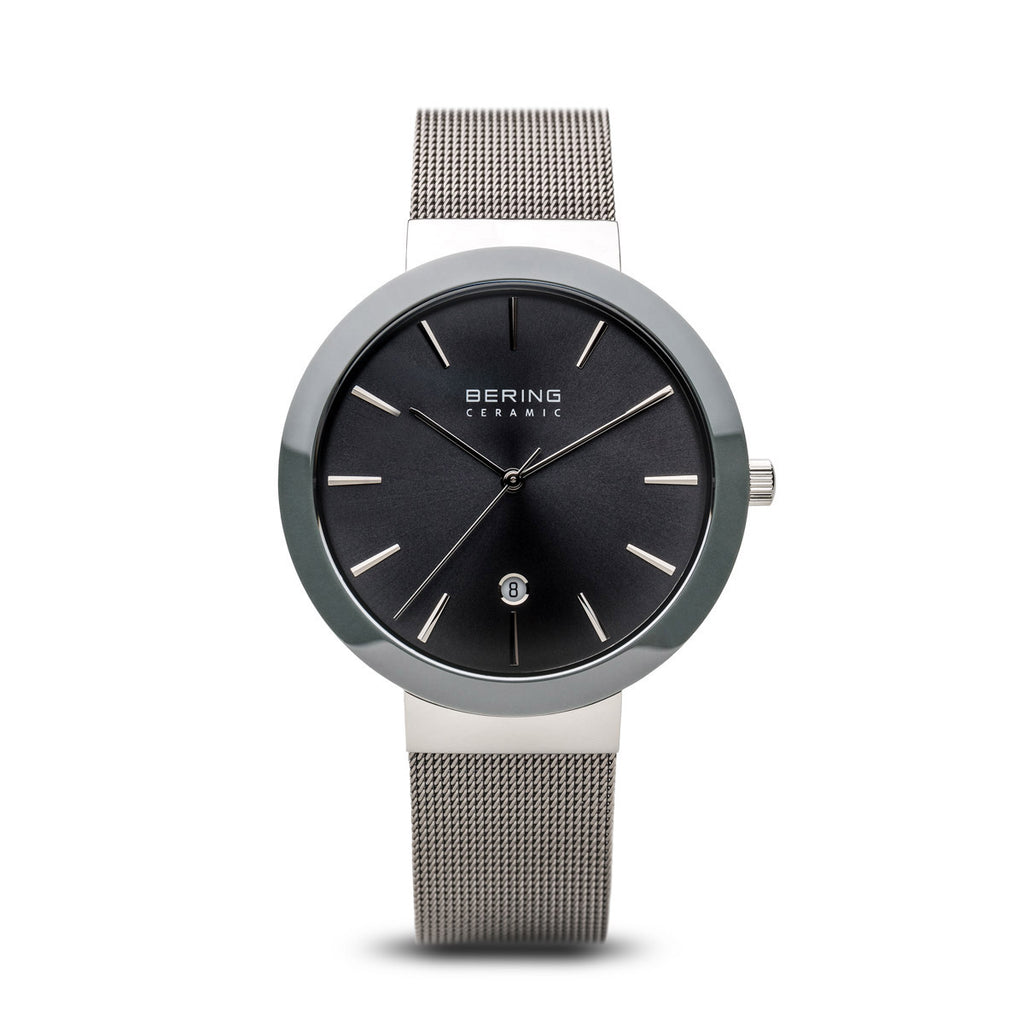 Bering-Ceramic Grey/Silver/Grey/40mm-Watch-11440-389-THE UNIT STORE
