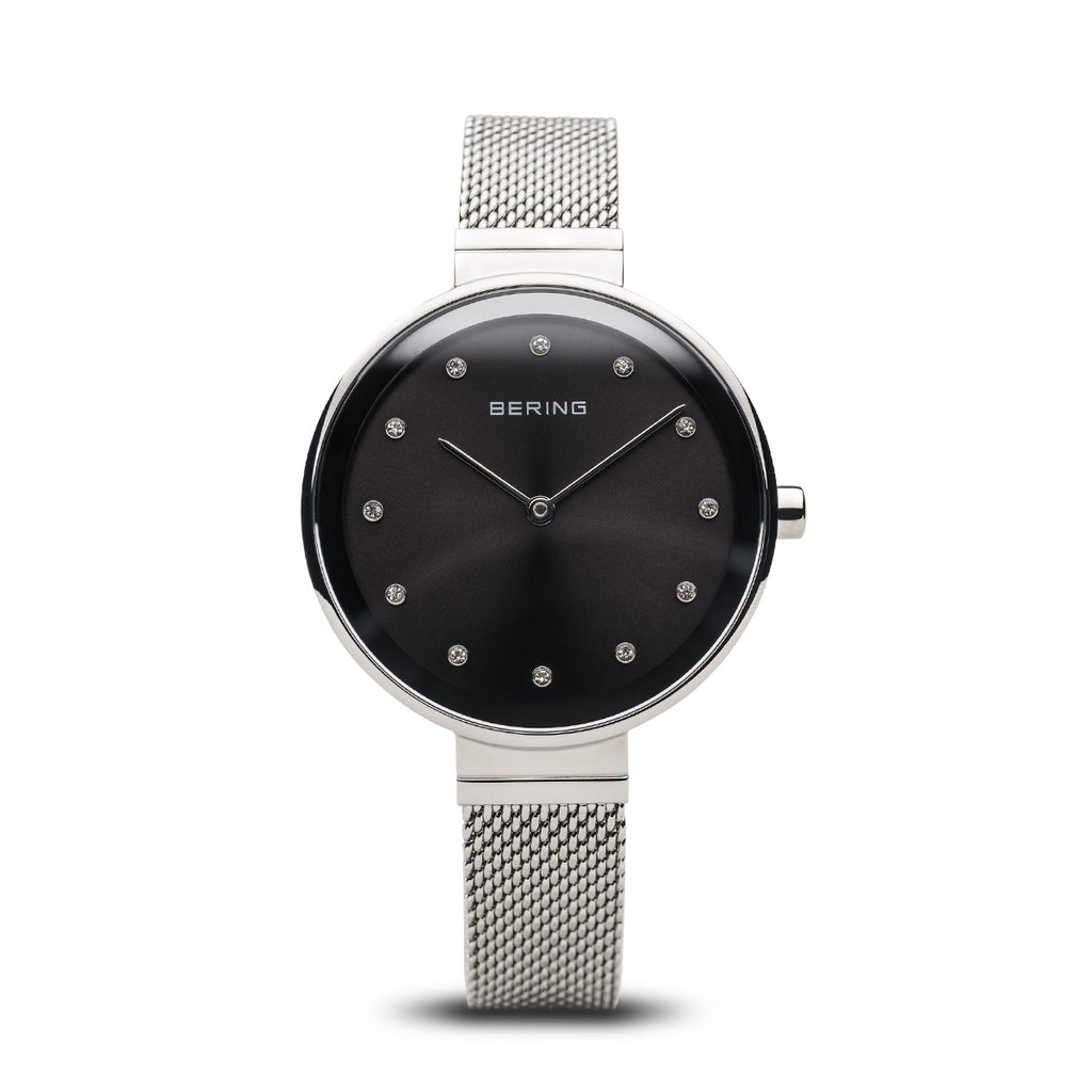 Bering-Classic/Black/Silver/Silver Mesh/34mm-Watch-12034-009-THE UNIT STORE