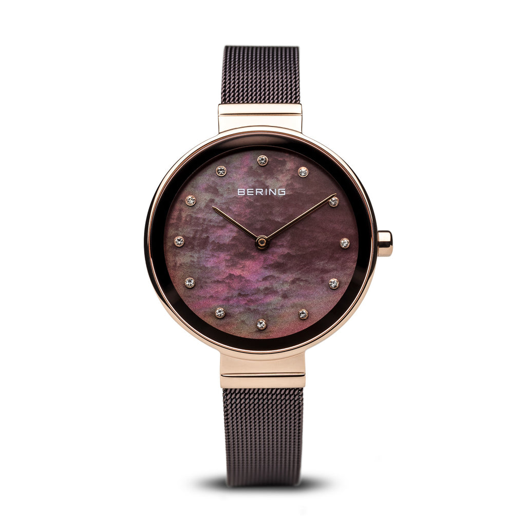 Bering-Classic/Brown/Rose Gold/Brown/34mm-Watch-12034-265-THE UNIT STORE