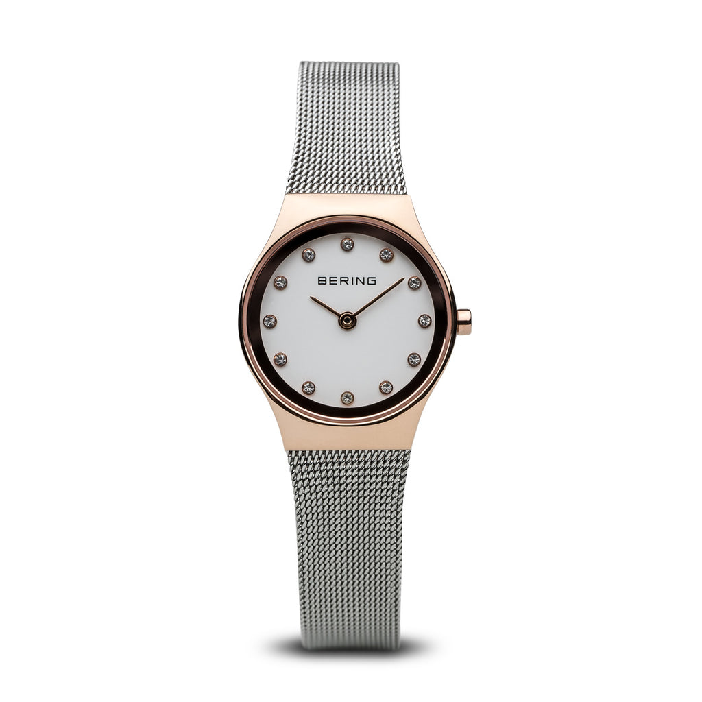 Bering-Classic/Silver/Rose Gold/Silver Mesh/24mm-Watch-12924-064-THE UNIT STORE