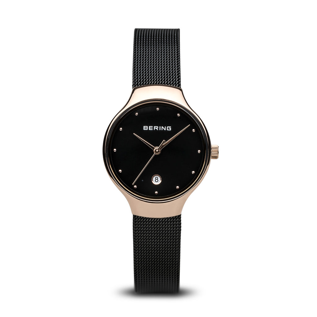 Bering-Classic/Black/Rose Gold/Black/26mm-Watch-13326-262-THE UNIT STORE