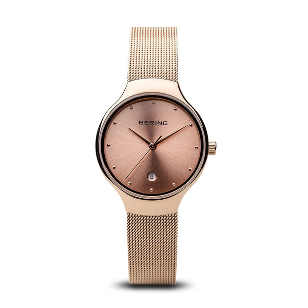 Bering-Classic Ladies Rose Gold Dial RG Case Mesh-Watch-13326-366-THE UNIT STORE