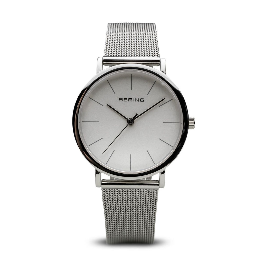 Bering Classic Silver Dial Silver Case Mesh 13436-000