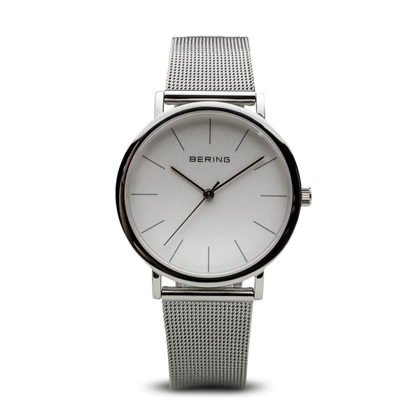 Bering-Classic Silver Dial Silver Case Mesh-Watch-13436-000-THE UNIT STORE