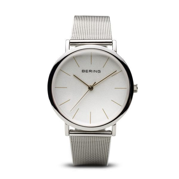 Bering-Classic Shiny SIL case SIL Dial steel Milanese-Watch-13436-001-THE UNIT STORE