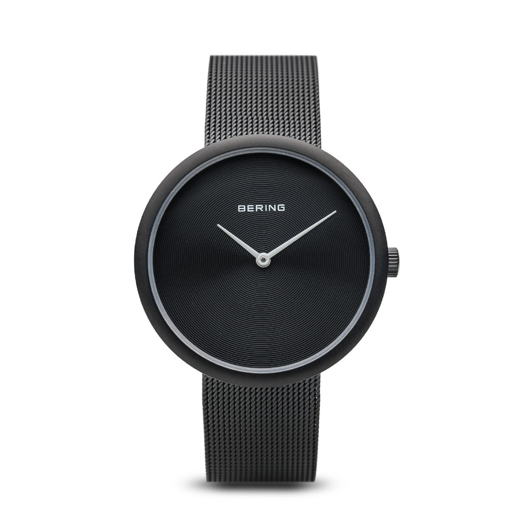 Bering-Classic/Black/Black Mat/Black Mesh/33mm-Watch-14333-222-THE UNIT STORE