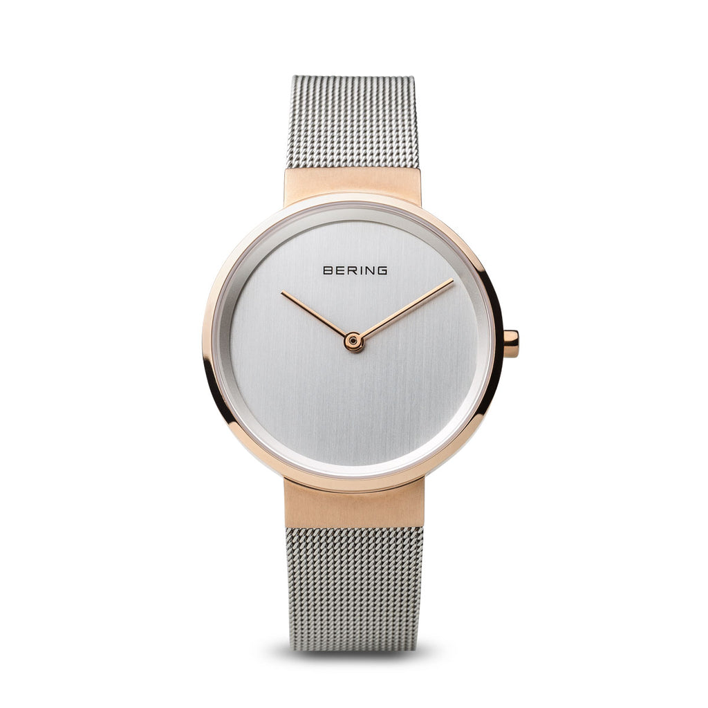 Bering-Classic Small RG Case SIL Dial SiL Mesh-Watch-14531-060-THE UNIT STORE