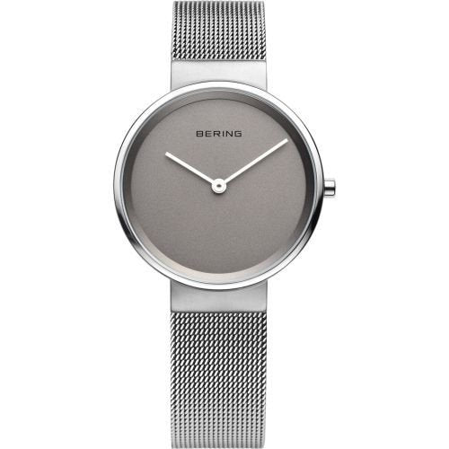 Bering-Classic Small SIL Case SIL Dial Grey Mesh-Watch-14531-077-THE UNIT STORE