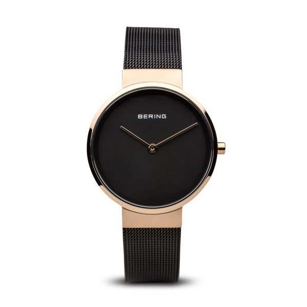 Bering-Classic Small RG Case Black Dial Mesh-Watch-14531-166-THE UNIT STORE