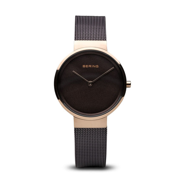 Bering-Classic Brown Dial RG Case Brown Mesh-Watch-14531-262-THE UNIT STORE