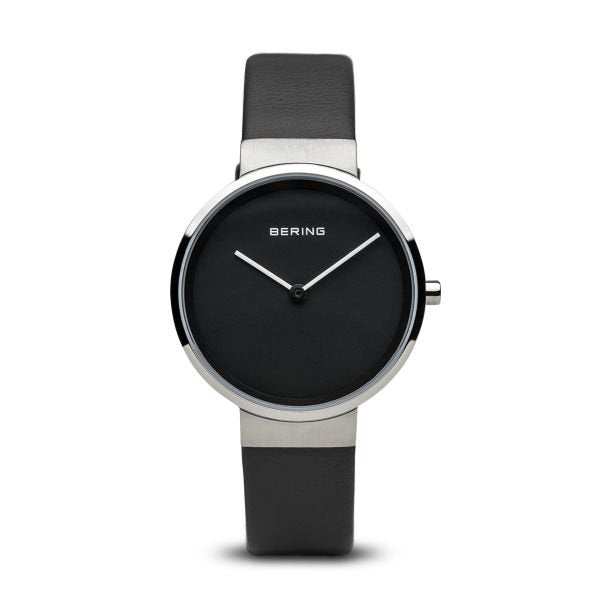 Bering-Classic SIL Case Black Dial Black Leather-Watch-14531-402-THE UNIT STORE