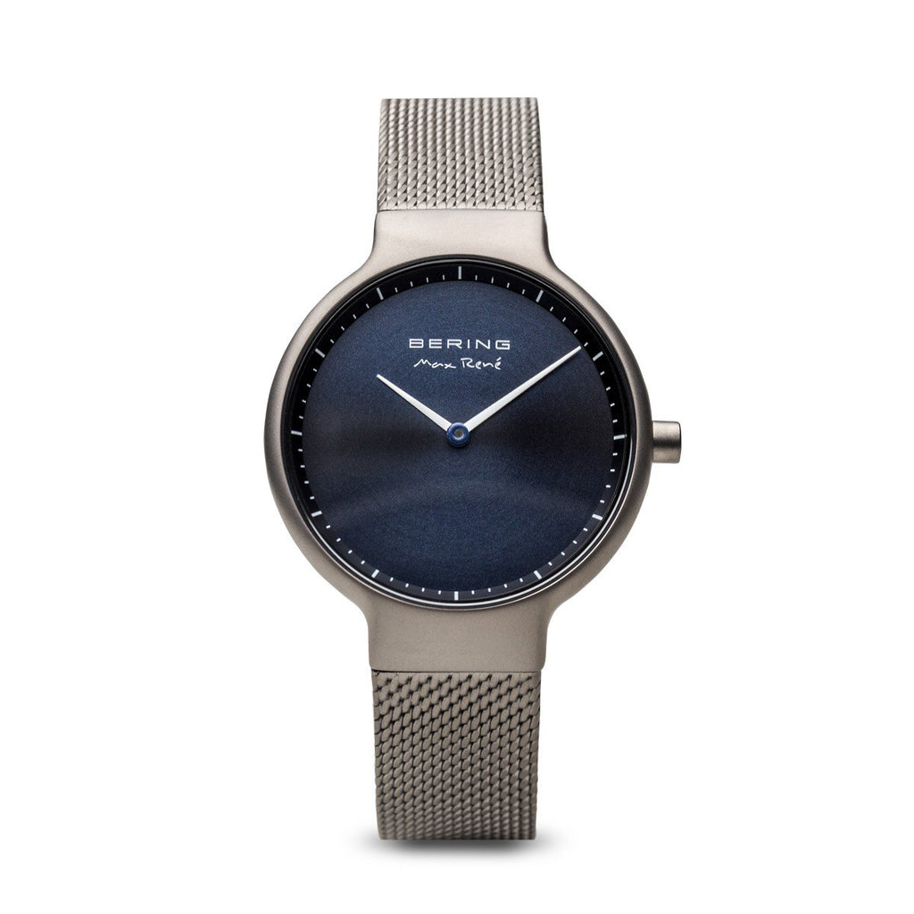Bering-Max Rene Grey Brushed Case Sunray Dial SIL Mesh-Watch-15531-077-THE UNIT STORE