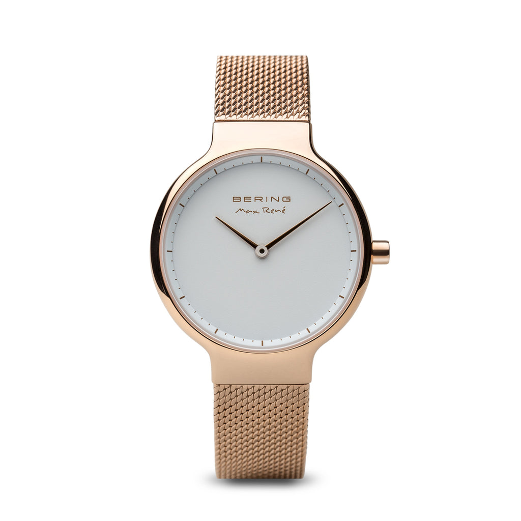 Bering-Max Rene/White/Rose Gold/Gold/31mm-Watch-15531-364-THE UNIT STORE