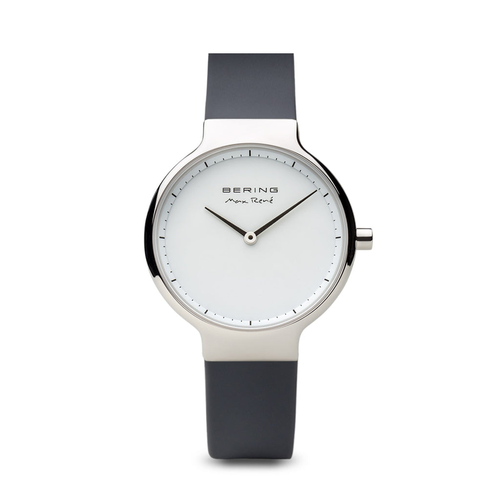 Bering-Max Rene/White/Silver/Grey Silicone/31mm-Watch-15531-400-THE UNIT STORE
