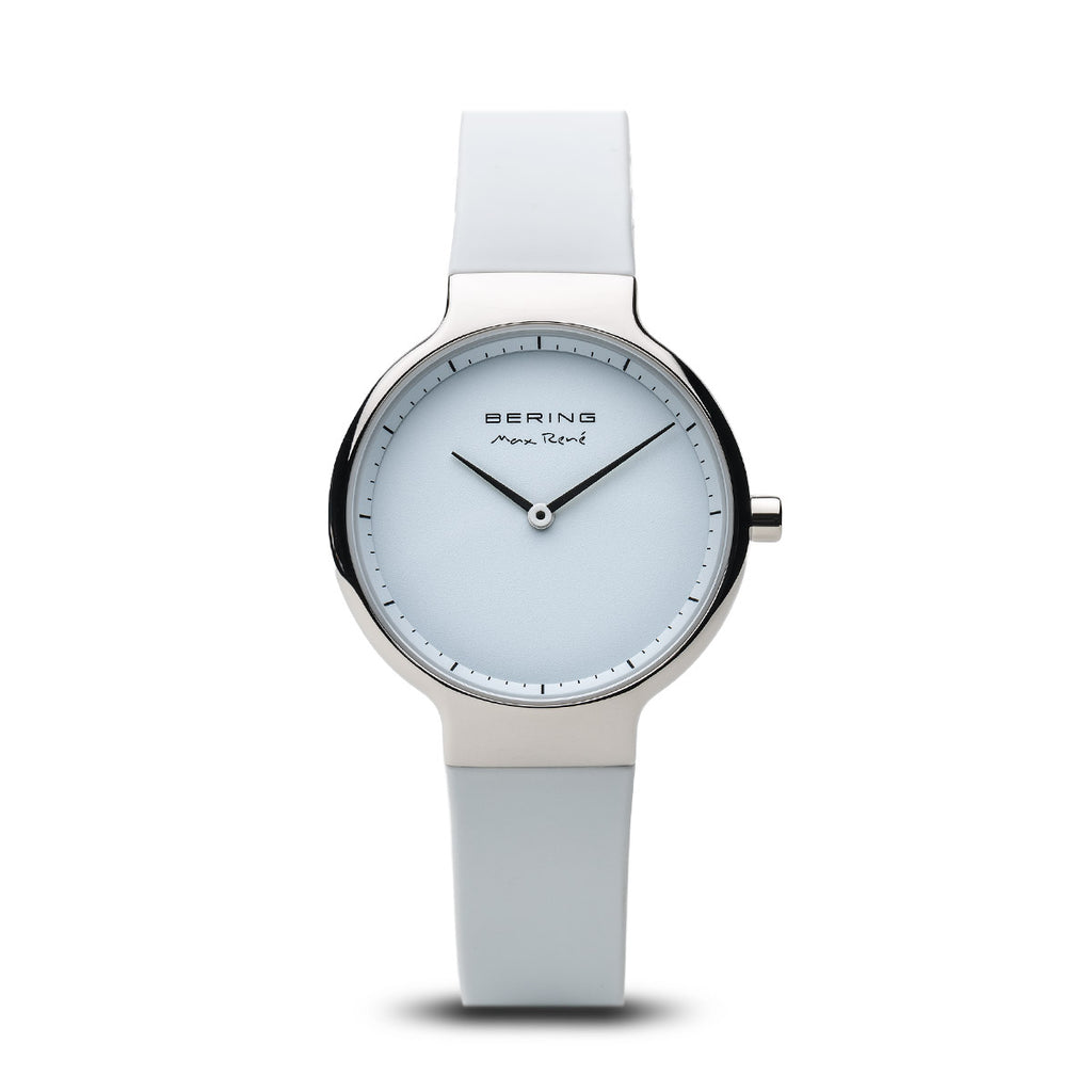 Bering-Max Rene/White/Silver/White Silicone/31mm-Watch-15531-904-THE UNIT STORE