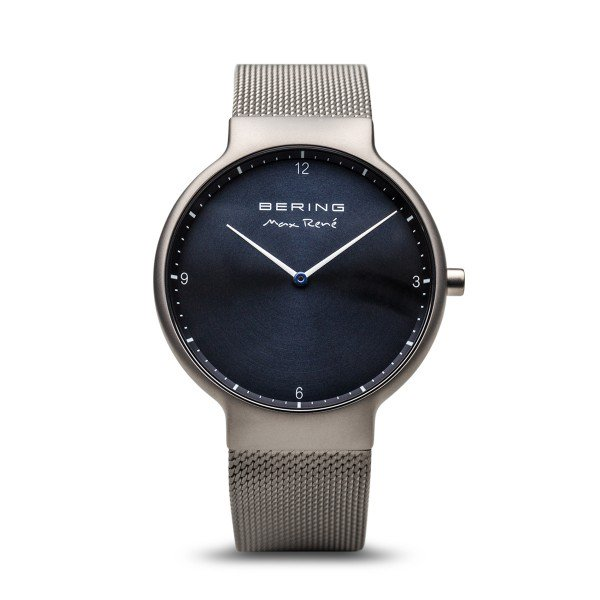 Bering-Max Rene Sunray Dial Grey Brushed Case Silver Mesh-Watch-15540-077-THE UNIT STORE