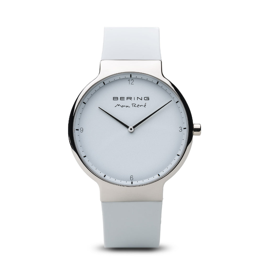 Bering-Max Rene/White/Silver/White Silicone/40mm-Watch-15540-904-THE UNIT STORE