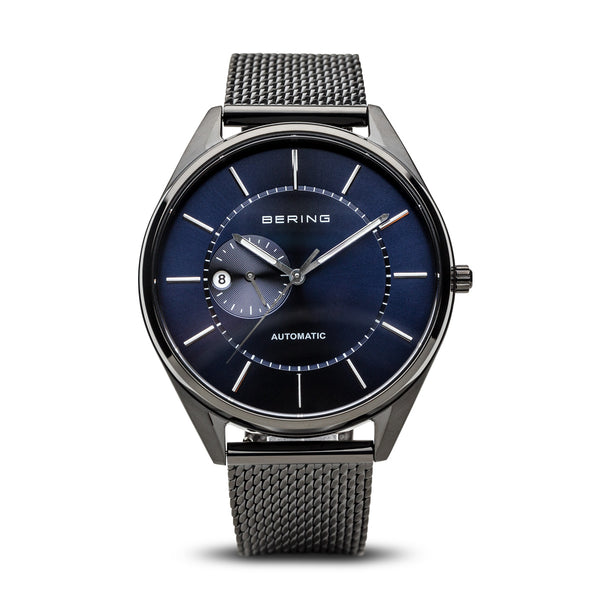 Bering-Automatic/Blue/brushed Black/Black Mesh/43mm-Watch-16243-227-THE UNIT STORE