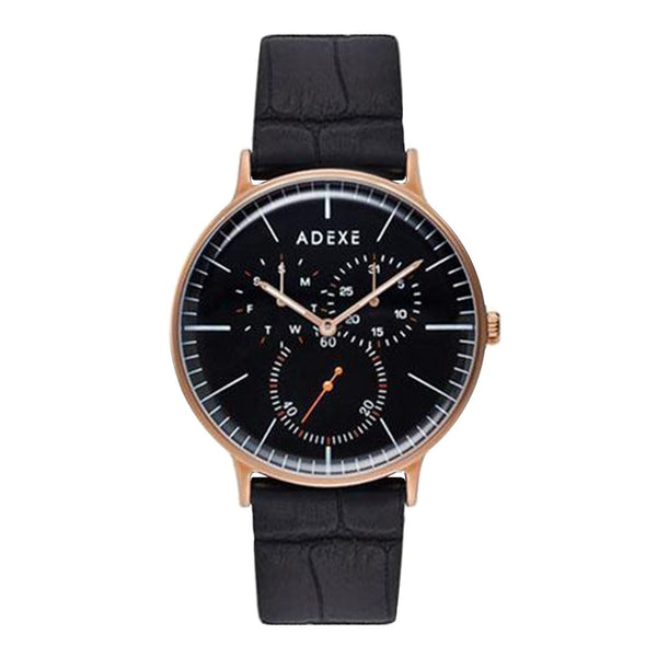 ADEXE-VD76 / Rose Gold / Black / Black-Watch-1868A-06-THE UNIT STORE